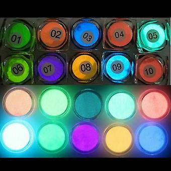 10pcs Luminous Powder Resin Pigment Dye Uv Epoxy Diy Making Jewelry Accessories