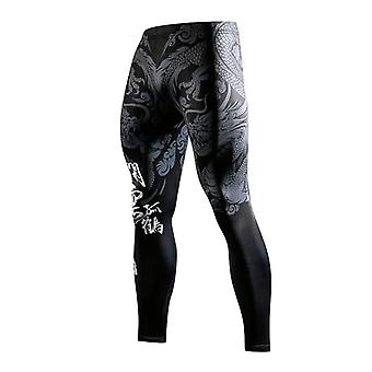 3d Chinese Style 3d Printing Gym Tight Leggings Breathable Quick Drying