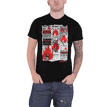 Stiff Little Fingers T Shirt Flyer Band Logo new Official Mens Black
