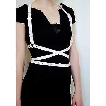 أزياء فاسق حمالة الصدر الأعلى الجلود تسخير حزام حزام الصدر الأشرطة مرصع برشام