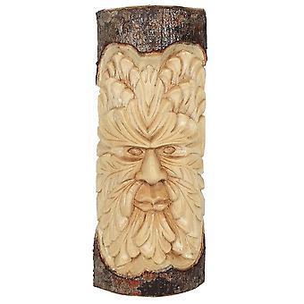 Quelque chose de différent Green Man Wood Carving Wall Art