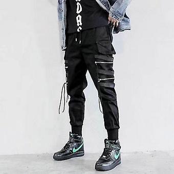 Pánské kalhoty,boční kapsy harémové kalhoty, podzimní hip hop ležérní stuhy design muž