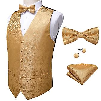 Wedding Formal Business Men Waistcoat Vest Suit Tie Set