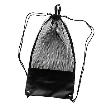 Scuba Diving Snorkeling Swimming Fins Mesh Gear Drawstring Bag With Shoulder