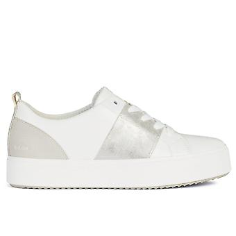 Geox d blomiee high trainers femmes argent, blanc 002