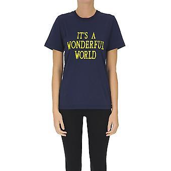 Alberta Ferretti Ezgl095077 Frauen's blau Baumwolle T-shirt