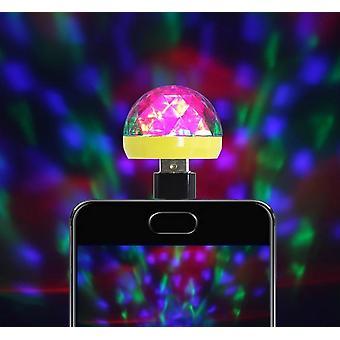 ضوء المرحلة USB - ديسكو الموسيقى ماجيك الكرة مصباح للهاتف المحمول، والكمبيوتر الشخصي وبنك الطاقة