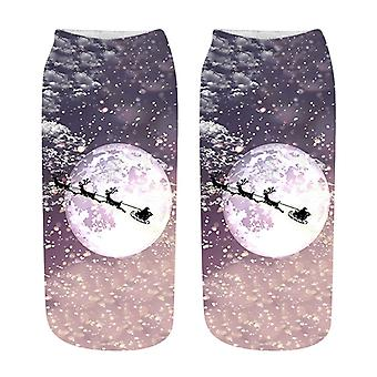 Chaussettes 3d Print Cartoon Cotton Warm Winter/women