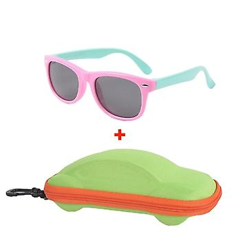 Polarized, Silicone Frame, Sun-glasses With Car Case Eyewear &