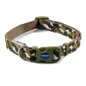 1 x Camouflage Hundehalsband Medium verstellbar 30-50cm Hals Blei Leine Pet Walking Outdoor