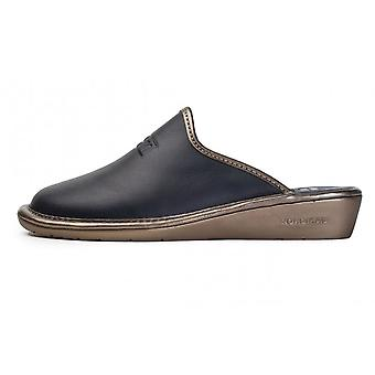 Nordikas 7399-o Milano Leather Mule Slippers In Navy