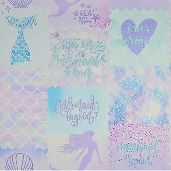 Fond d'écran Mermaid Purple/Teal