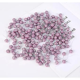 mini falske plast bær kunstig blomst pearlescent stamen dekorasjon