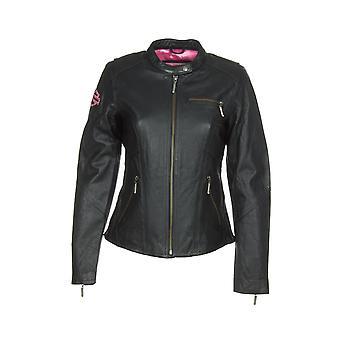 Harley-Davidson 98022-12VW Women's Jacket Pink Label Embellished Black Leather