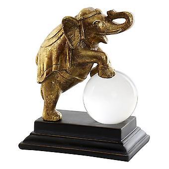 Decoratieve figuur Dekodonia Resin Crystal Elephant (19 x 11 x 23 cm)