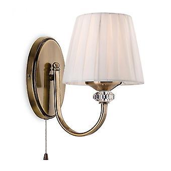 Lámpara De Pared Langham, Latón Antiguo, Con Pantalla
