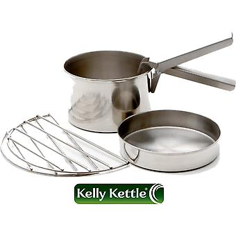 Kelly Kettle Cook Set - fits Base Camp and Scout Models Stainless Steel - Large