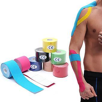 ספורט כותנה אלסטית שרירים תחבושת קינסיולוגיה קלטת שריר הברך שרירים הקלה דבק זן פציעה קלטת