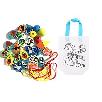 Wooden Cartoon Animals And Fruit Beads Baby Educational Toy