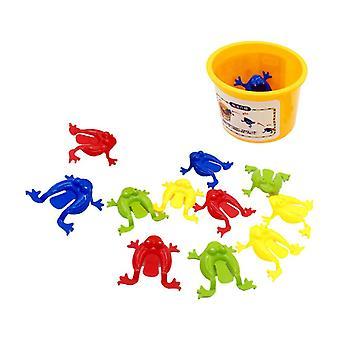 Giocattolo rana saltatore assortito con secchio, bomboniere per feste per bambini