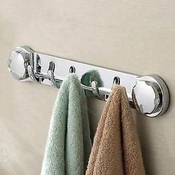 5 Ganchos succión taza pared colgador de vacío abs aspirar sucker towel rack washroom sundries organizador de baño de gancho de almacenamiento