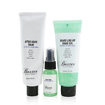 Baxter Of California Shave Essentials 3-Pieces Kit: Shave Tonic 30ml + Beard Line-Up Shave Gel 100ml + After Shave Balm 120ml 3pcs