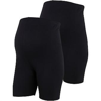 Mamalicious Womens Lenna Shirts 2 Pack Shorts Bottoms Activewear Short Pants