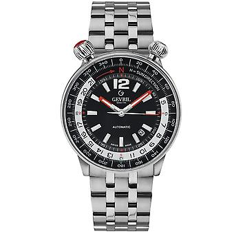 Gevril Wallabout Automatic Black Dial Men's Watch 48561