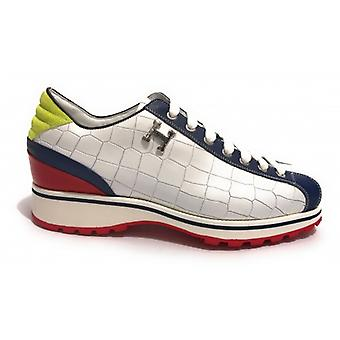 Herrskor Harris Läder Sneakers Crocodile Print Shade Bristol Blue U17ha140