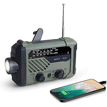 Portable Am/fm/noaa Weather Radio With Flashlight (green)