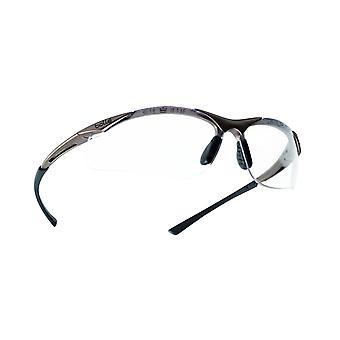 كونتبسي بوللي النظارات كفاف النايلون البرونزية الإطار واضحة عدسة مكافحة سكراتش/الضباب