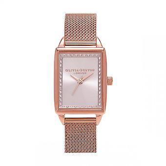 Olivia Burton Naisten kello 3 AIGUILLES OB16SS37 - Vaaleanpunainen Dor Steel Rannekoru