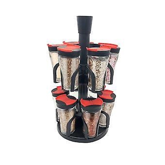 Rotatable Spice Rack - 12 Spice Containers