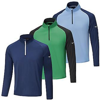 Mizuno Mens 2021 Quick Dry Breeze 1/4 Zip Lightweight Runbird Motif Sweater