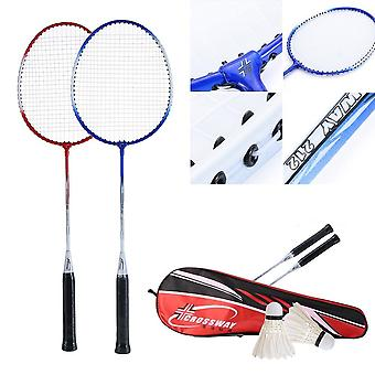 Professional Badminton Kit 2pcs Rackets+2pcs Shuttlecock +carrying Bag