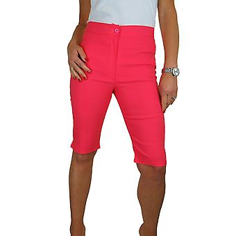 Womens High Waist Skinny Stretch Pedal Pusher Style Shorts Ladies Summer Shorts Pants Knielengte 8-22