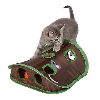 Pet Cat Mice Game Intelligence Toy Bell Tent With 9 Hole Cat Playing Tunnel creative cat toys
