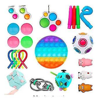 Sensory Fidget Toys Set Bubble Pop Stress Relief for Kids Adults Z48