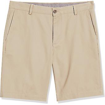 """Essentials Men's Slim-Fit 9"""" Short, Khaki, 32"""