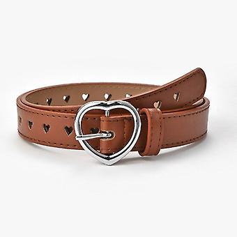 High-quality's Peach Heart Buckle Simple Fashion Women's Belt