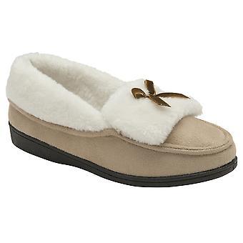 Dunlop - ladies martha suede-like slippers