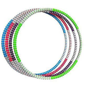 Red gray weighted hula hoop for adults, weight loss exercise hula ring with stainless az8931