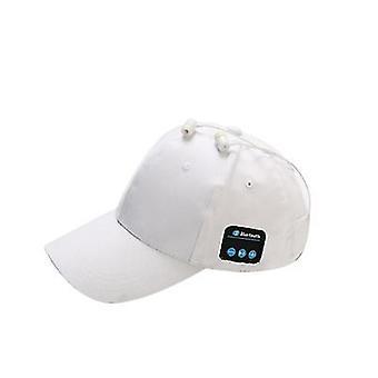 White wireless bluetooth cap, outdoor sunscreen baseball cap az18041