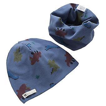 أطفال القطن الدافئ Neckerchief الفاصوليا قبعة وشاح قطعتين مجموعة