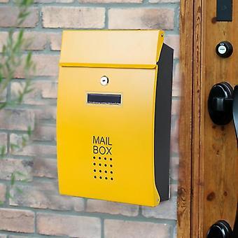 Seinään asennettu ruostumattomasta teräksestä valmistettu pystysuora lukituspostilaatikko