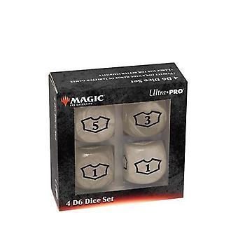 Ultra Pro Magic The Gathering: Deluxe 22mm věrnostní kostky bílé