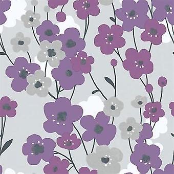 Tempo Poppy Purple Wallpaper