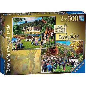 Ravensburger Viehättävä Derbyshire Palapelit (2 x 500 Kappaletta)