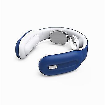 Masajeador cervical inteligente, protector multifuncional del cuello, mini masajeador de hombros y cuello (azul)