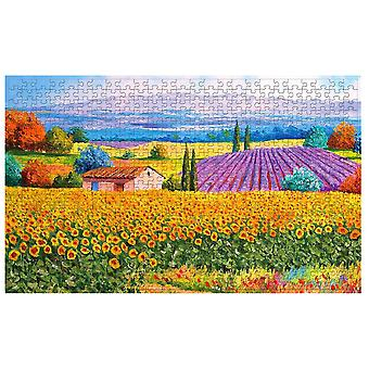 500-piece Plane Puzzle Educational Toy Puzzle Jigsaw Rural Style